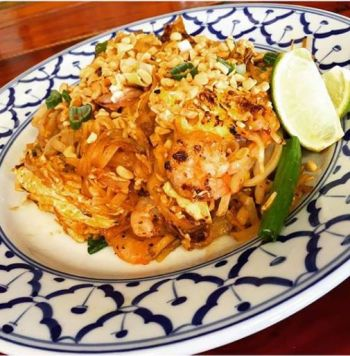 Thai Room Restaurant OBX, *SPICY THAI NOODLES (PAD THAI)